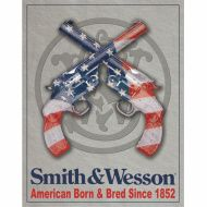 TIN SIGNS Retro plechová ceduľa Smith & Wesson American Born & Bred (TSN1465)