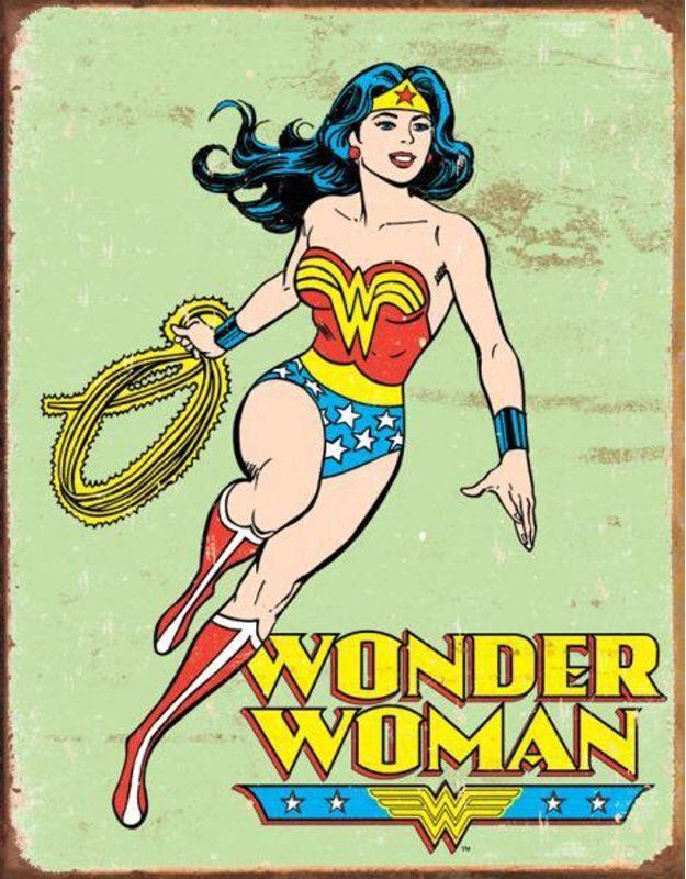 TIN SIGNS Retro plechová ceduľa Wonder Woman Retro, (TSN1642)