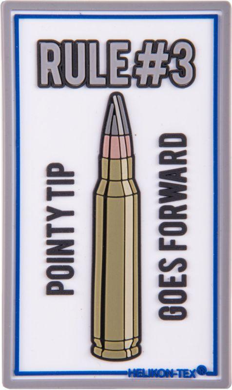 HELIKON 3D PVC Nášivka/Patch Rule No. 3 - biela, (OD-RL3-RB-20)