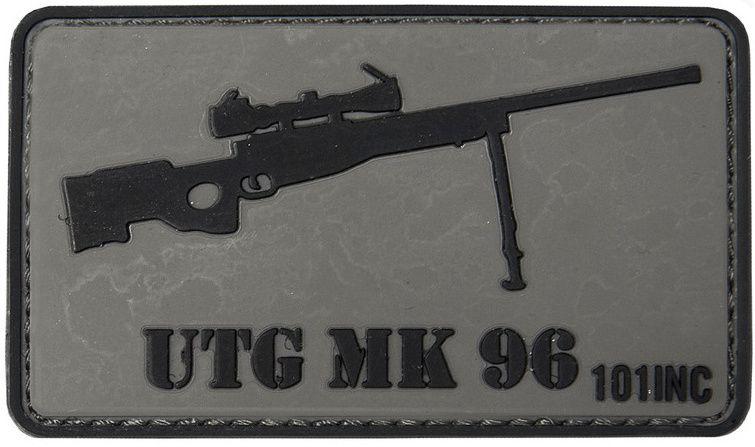 3D PVC Nášivka/Patch UTG MK 96 - šedá, (444130-3754)