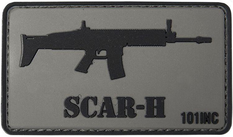 3D PVC Nášivka/Patch SCAR-H - šedá, (444130-376099A)