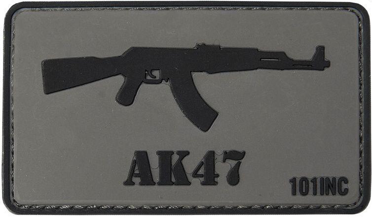 3D PVC Nášivka/Patch AK47 - šedá, (444130-3763)