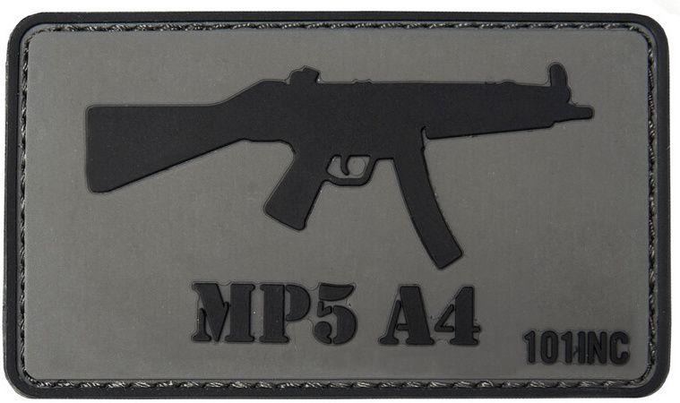 3D PVC Nášivka/Patch MP5 A4 - šedá, (444130-3764)