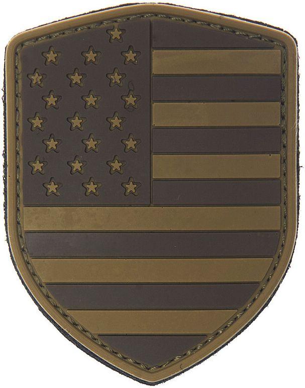 3D PVC Nášivka/Patch Shield USA - desert, (444130-379099A)
