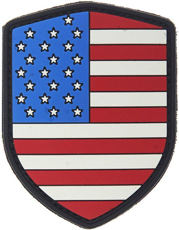 3D PVC Nášivka/Patch Shield USA - farebná