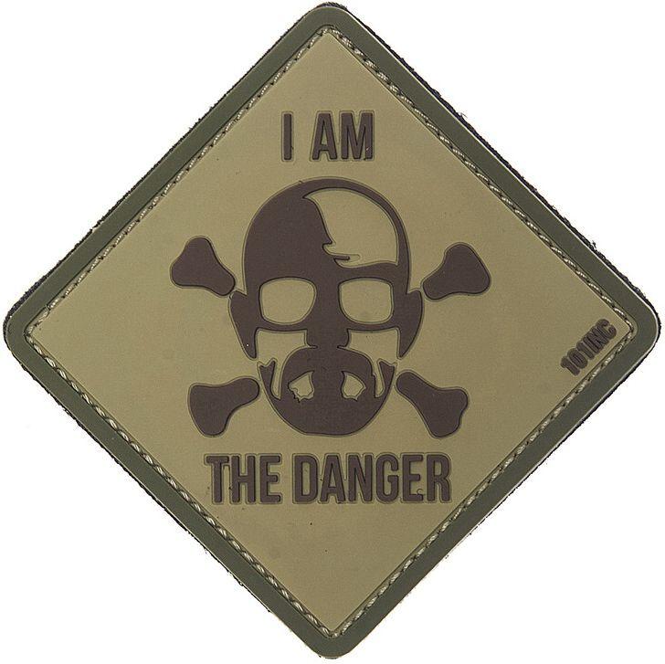 3D PVC Nášivka/Patch I am the danger - desert, (444130-3832)