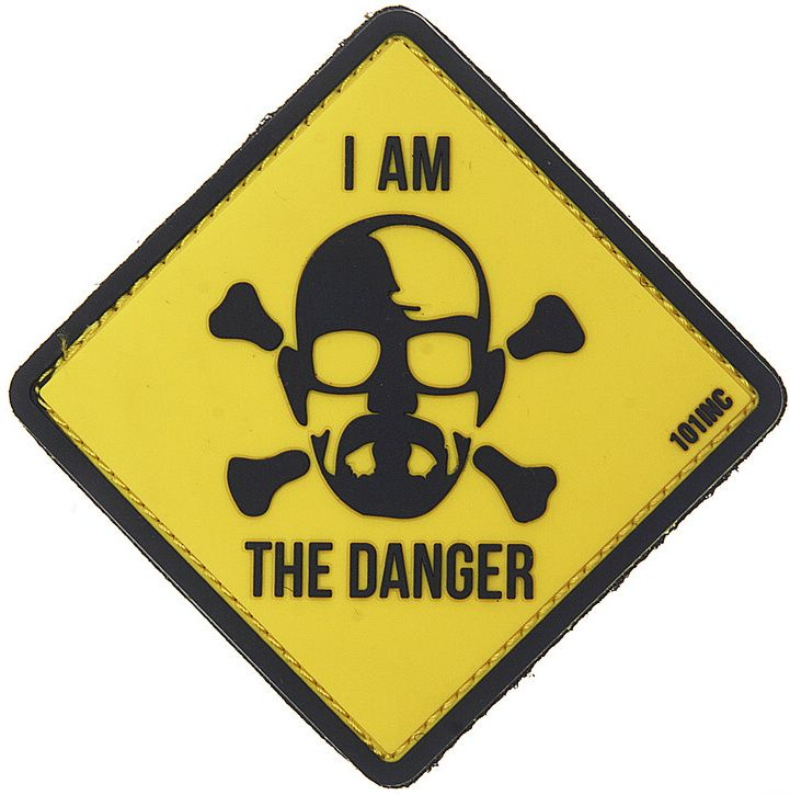 3D PVC Nášivka/Patch I am the danger - žltá, (444130-3833)