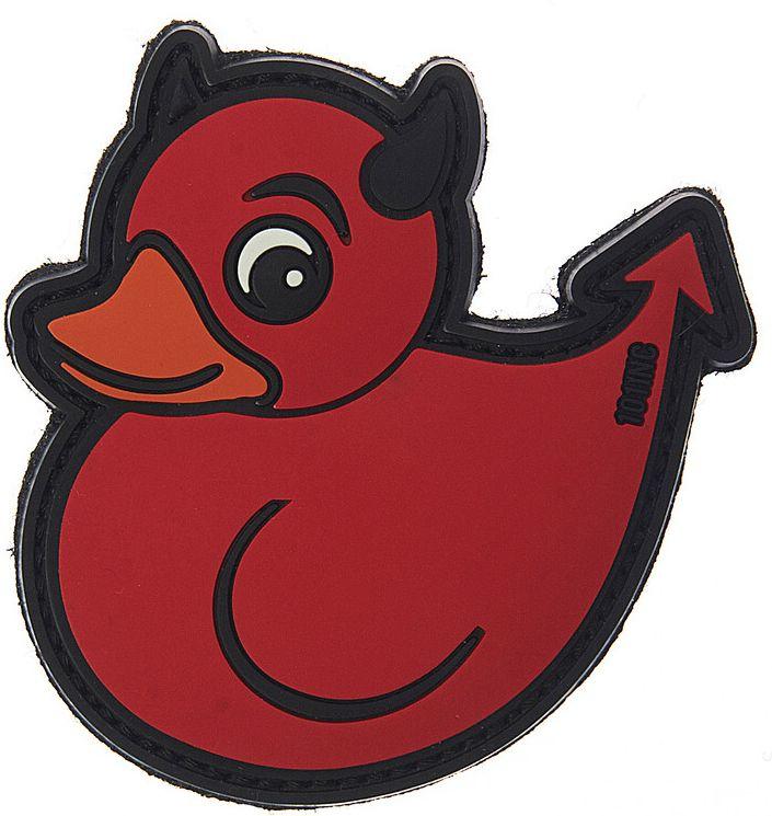3D PVC Nášivka/Patch Devil Duck - červená, (444130-3851)