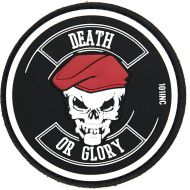 3D PVC Nášivka/Patch Death or glory - čierna