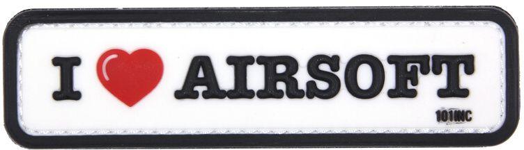 3D PVC Nášivka/Patch 3D PVC Nášivka I Love Airsoft - biela, (444130-4080)