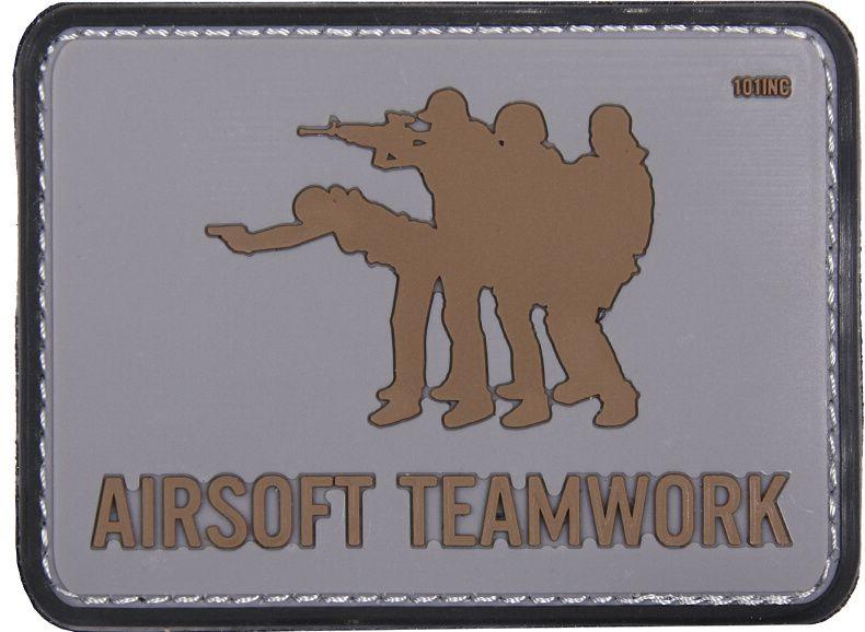 3D PVC Nášivka/Patch 3D PVC Nášivka Airsoft Teamwork - šedá, (444130-4083)