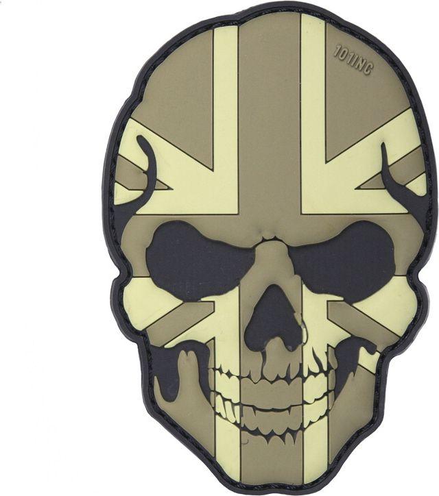 3D PVC Nášivka/Patch 3D PVC Nášivka Skull U.K. subdued, (444130-5010)