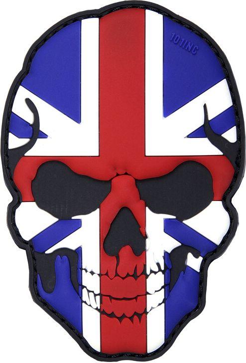 3D PVC Nášivka/Patch 3D PVC Nášivka Skull U.K., (444130-5018)