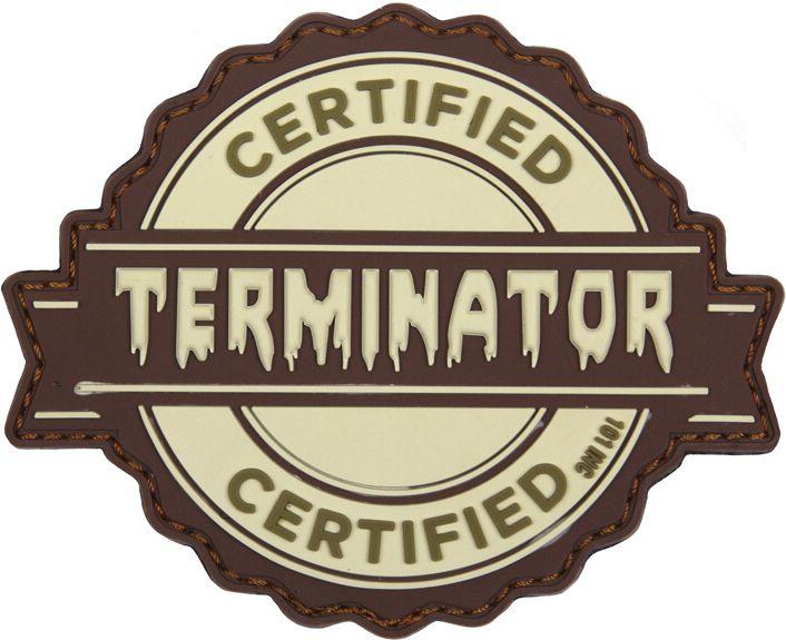 3D PVC Nášivka Terminator, coyote