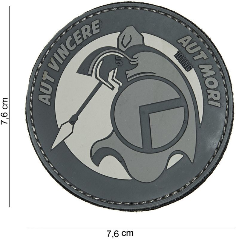 3D PVC Nášivka/Patch Spartan Aut Vincere - šedá, (444180-3952)