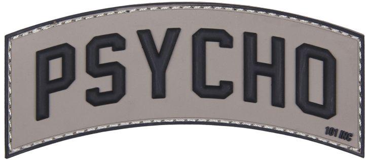 3D PVC Nášivka/Patch Psycho - šedá, (444130-5131)