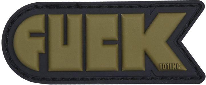 3D PVC Nášivka/Patch Fuck - zelená, (444130-5138)