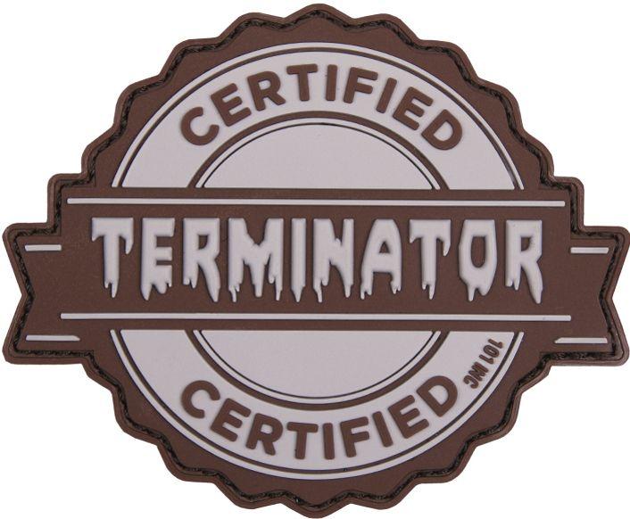3D PVC Nášivka/Patch Terminator - šedá, (444130-5198)