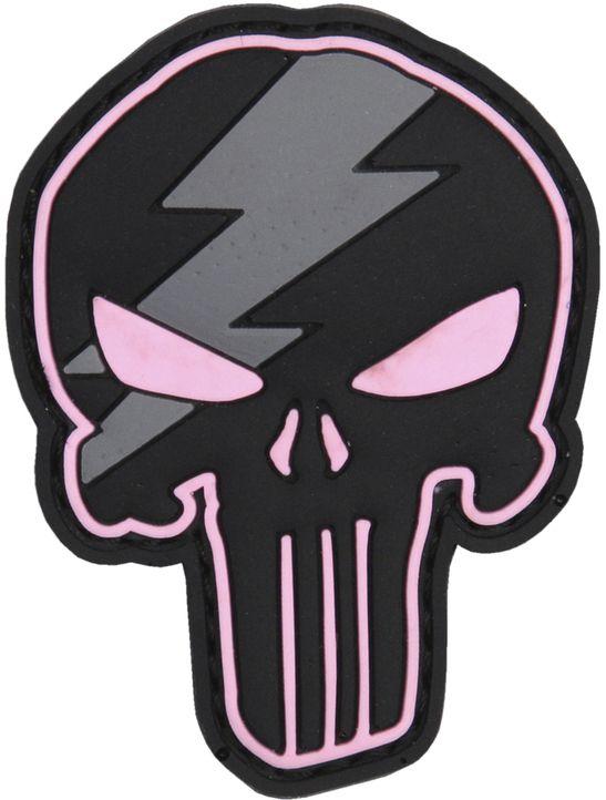 3D PVC Nášivka/Patch Punisher thunder - ružová, (444130-5305)