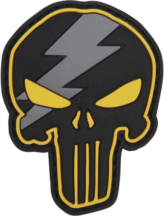 3D PVC Nášivka/Patch Punisher thunder - žltá, (444130-5306)
