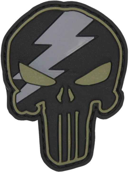 3D PVC Nášivka/Patch Punisher thunder - zelená, (444130-5307)