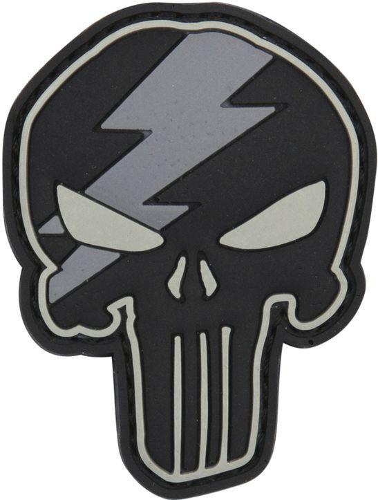 3D PVC Nášivka/Patch Punisher thunder - šedá, (444130-5308)