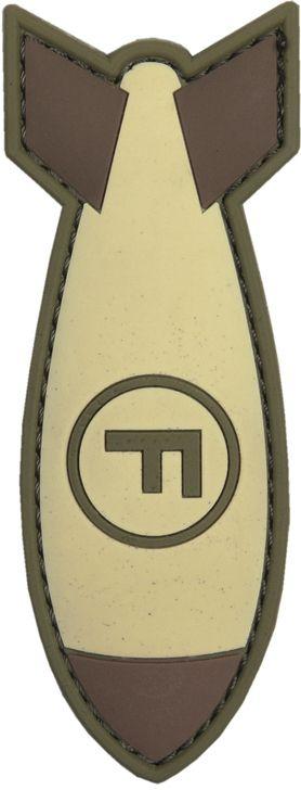 3D PVC Nášivka/Patch F. Bomb - coyote, (444130-5412)