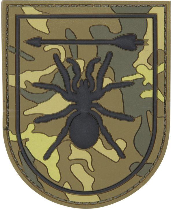 3D PVC Nášivka/Patch Special Forces spider - zelená, (444130-5510)
