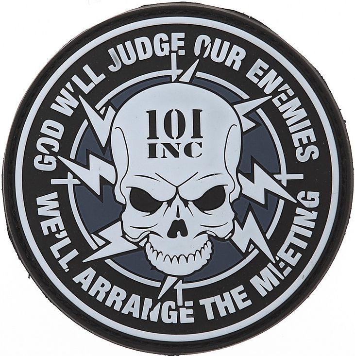 3D PVC Nášivka/Patch 101 INC God will judge our enemies, (444140-3556)