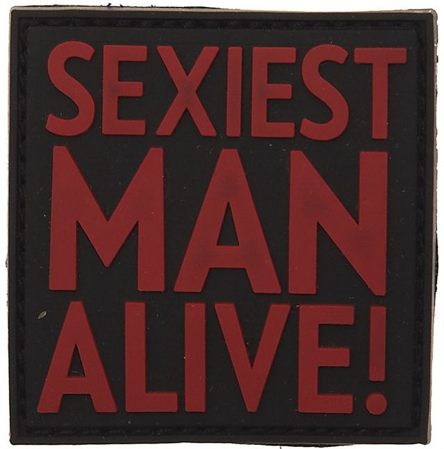 3D PVC Nášivka/Patch Sexiest man alive - zelená, (444120-3541)