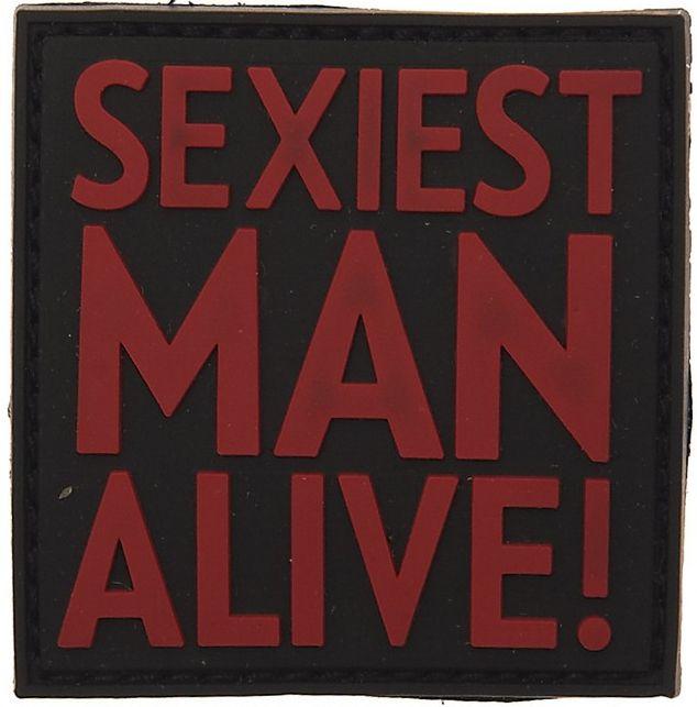 3D PVC Nášivka/Patch Sexiest man alive - červená, (444120-3541)