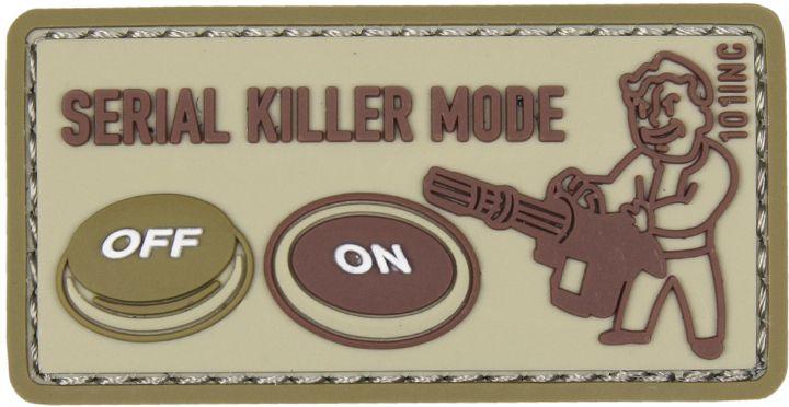 3D PVC Nášivka/Patch Serial killer - piesková, (444130-5205)