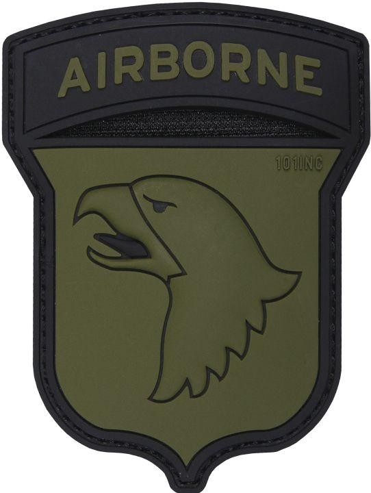 3D PVC Nášivka/Patch Airborne 101st - zelená, (444130-5099)