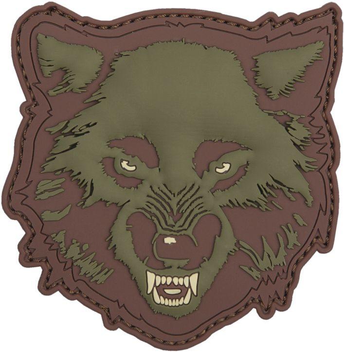 3D PVC Nášivka/Patch Wolf - zelená, (444130-5578)