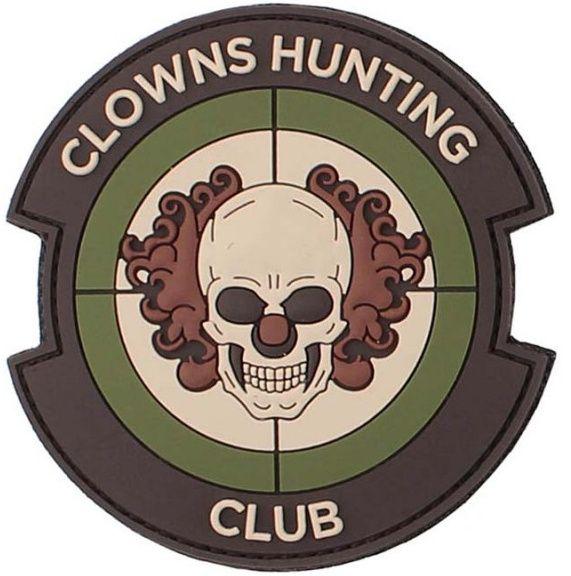 3D PVC Nášivka/Patch Clowns Hunting Club - multi