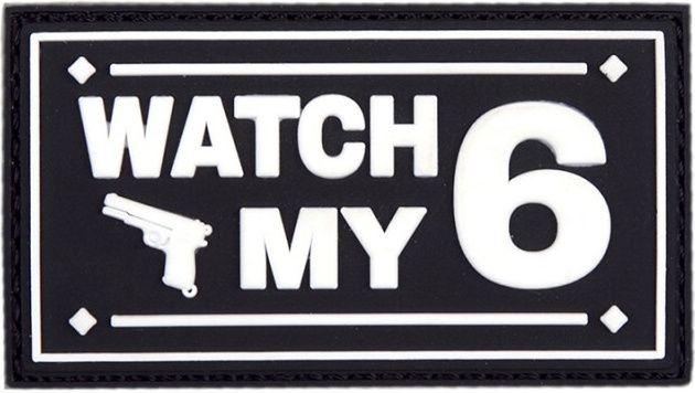 3D PVC Nášivka/Patch Watch my - čierna