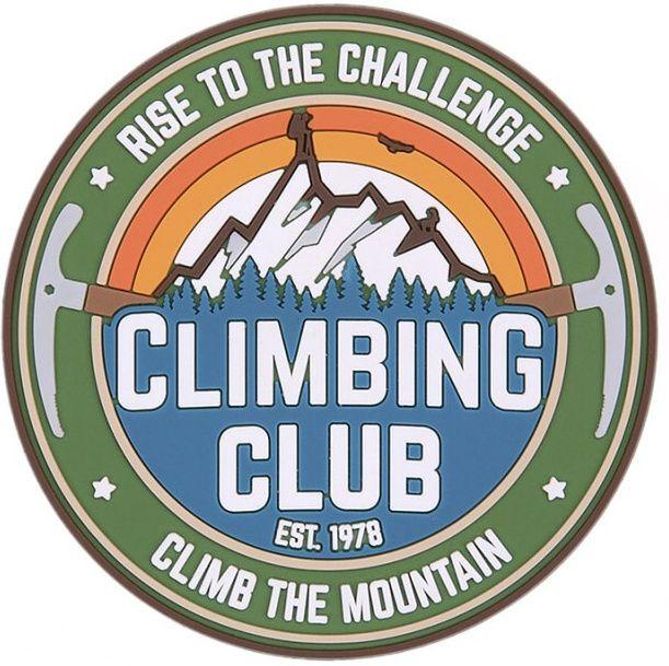 3D PVC Nášivka/Patch Climbing Club - farebná
