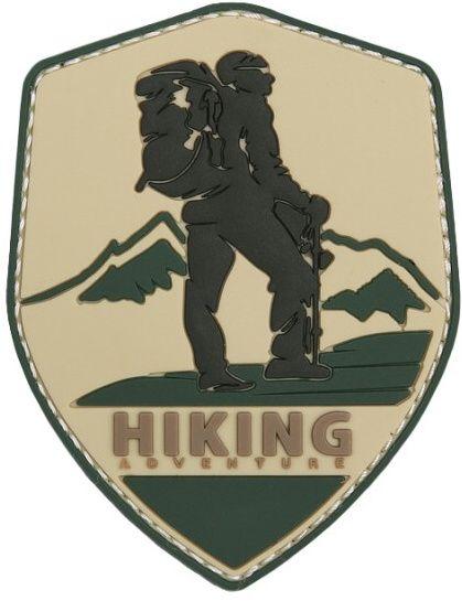 3D PVC Nášivka/Patch Hiking Adventure - piesková