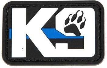 GFC 3D PVC Nášivka/Patch K9 Blue Line Paw
