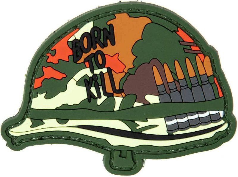 GFC 3D PVC Nášivka/Patch Born To Kill Helmet
