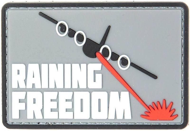 GFC 3D PVC Nášivka/Patch Raining Freedom