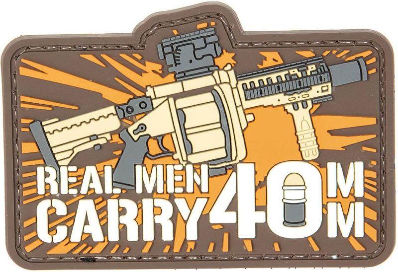 GFC 3D PVC Nášivka/Patch Real Man Carry 40mm