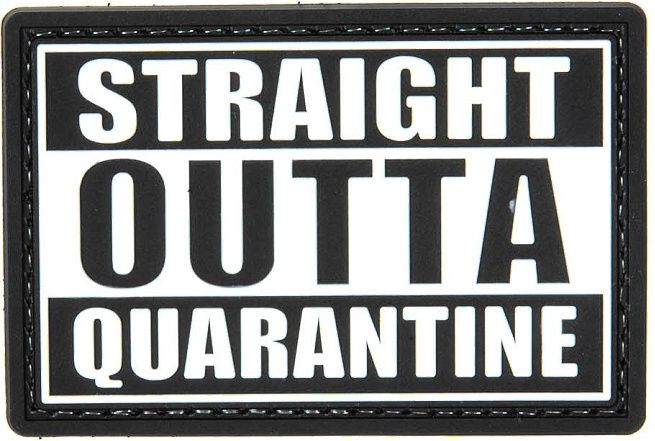 GFC 3D PVC Nášivka/Patch Straight Outta Quarantine