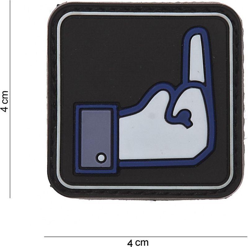 3D PVC Nášivka/Patch Fuck FB - čierna, (444120-3558)