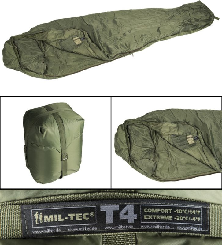 MilTec Spací vak Tactical 4, olivový