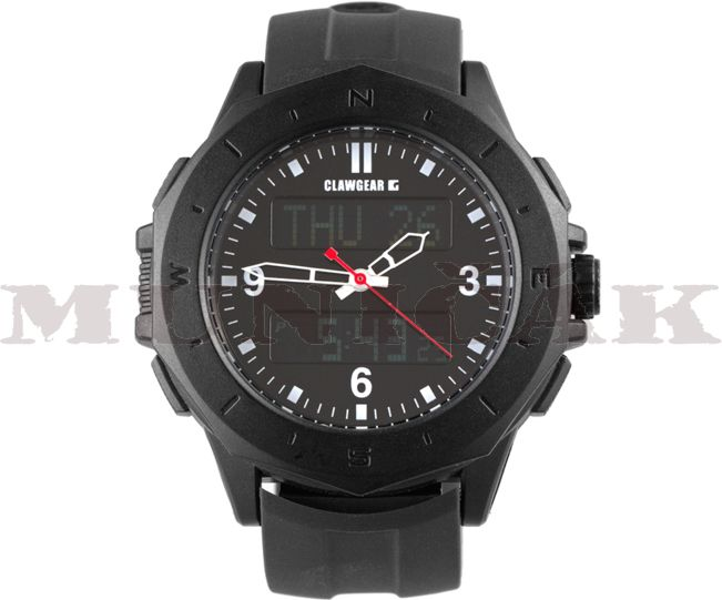 CLAW GEAR Taktické hodinky Dual Timer - čierne, (22739)