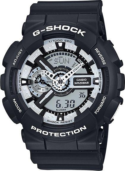 CASIO Hodinky G-Shock GA 110BW-1A, (15041849)