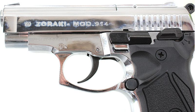 ZORAKI Plynová pištoľ ZORAKI 914 - lesklý chróm