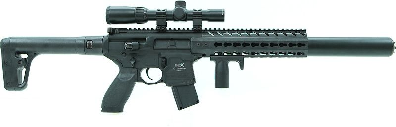 SIG SAUER Vzduchovka CO2 MCX s puškohladom, kal. 4,5mm diab. - čierna (SIG015)