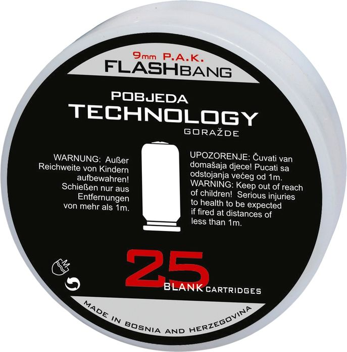 Náboj 9mm štartovací Pobjeda Flash Bang 25ks balenie